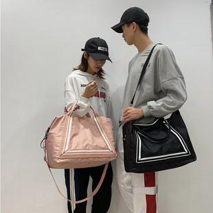 旅行包女手提轻便收纳短途大容量待产包网红旅游出差拉杆行李包袋图片