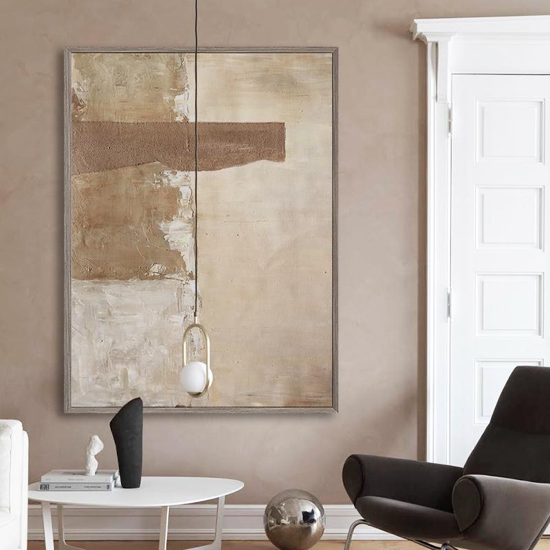 北欧简约现代客厅大幅装饰画卧室抽象油画Jellypaint|原创手绘