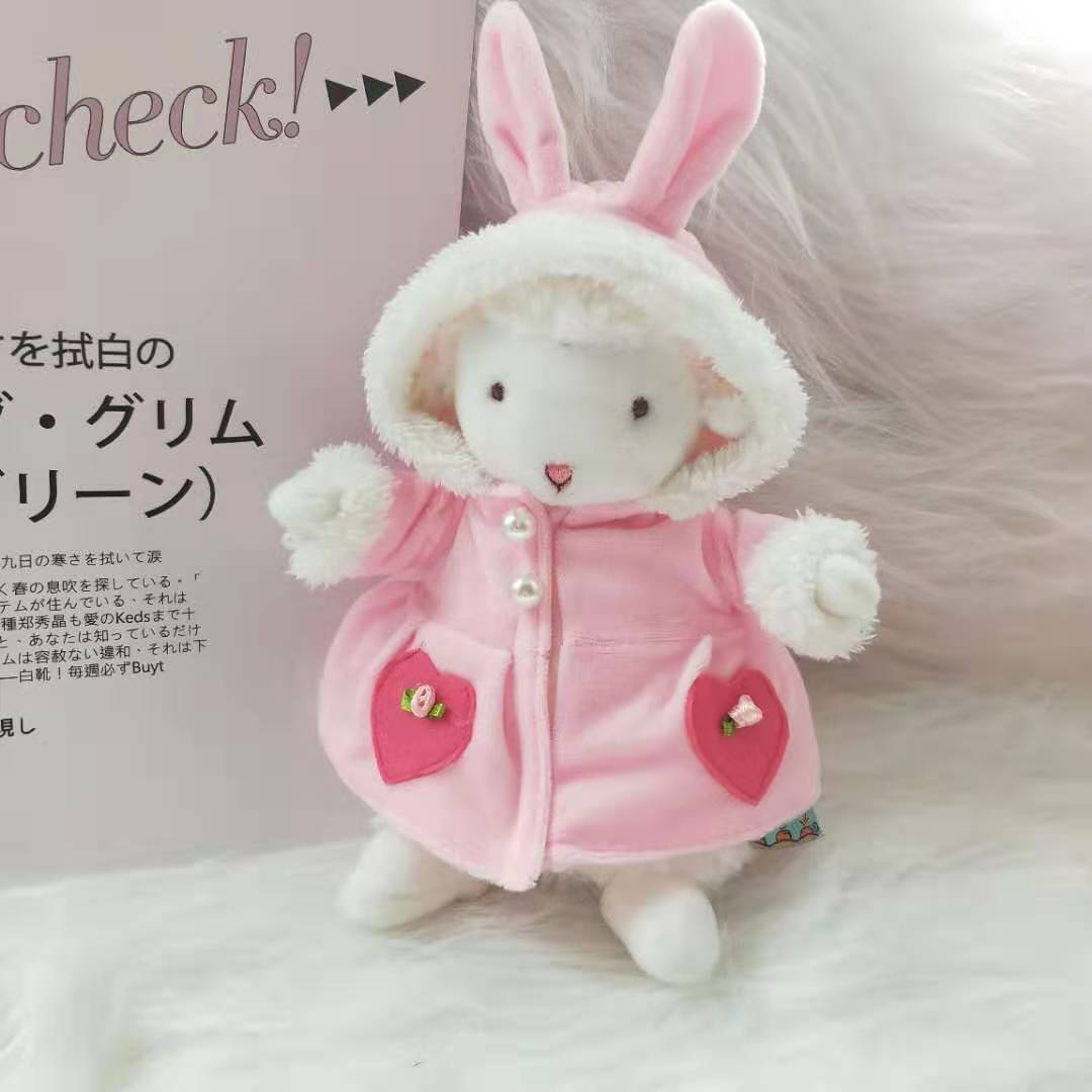 。娃娃替换17小坐网红羊厘米玩偶毛衣服饰小羊配件装配衣服换装配