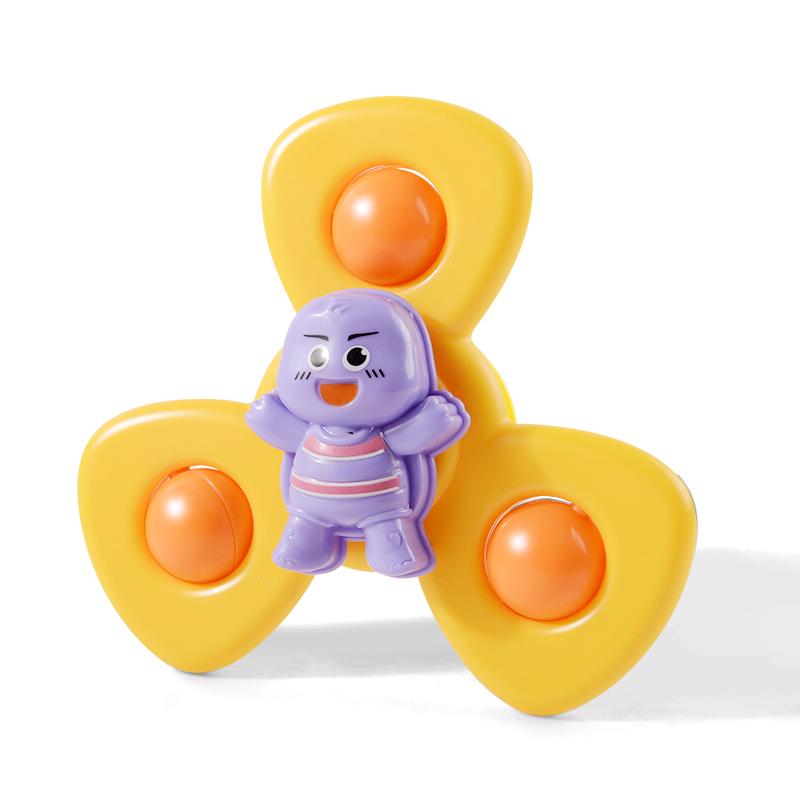 儿童玩具卡通吸盘转转乐抖音同款宝宝洗澡趣味会转动的昆虫花朵