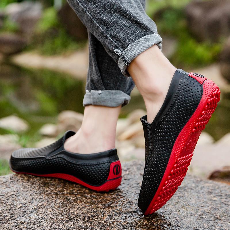 厨房雨鞋男潮低帮夏季防水鞋男雨靴短筒防滑洗车食堂工作套鞋胶鞋