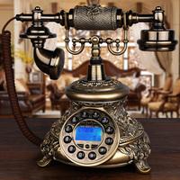 复古电话机座机家用欧式老式仿古电话机固定无线插卡旋转客厅有线