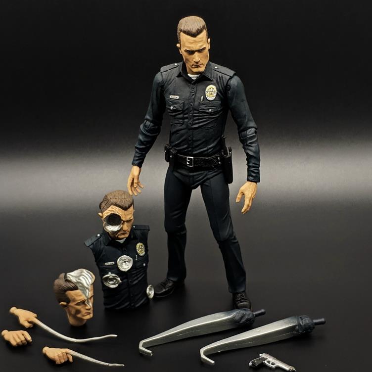 。未来1000命运终结者手办战士黑暗阿诺施瓦辛格t800t骨架模型