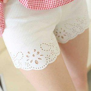 。【超值2条装】胖MM大码 镂空烧花可外穿防走光三分安全裤打底