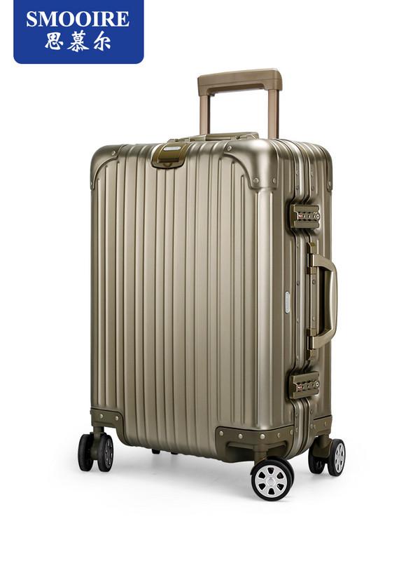 金属铝框行李箱全铝镁合金拉杆箱万向轮 商务旅行箱男 20寸24寸