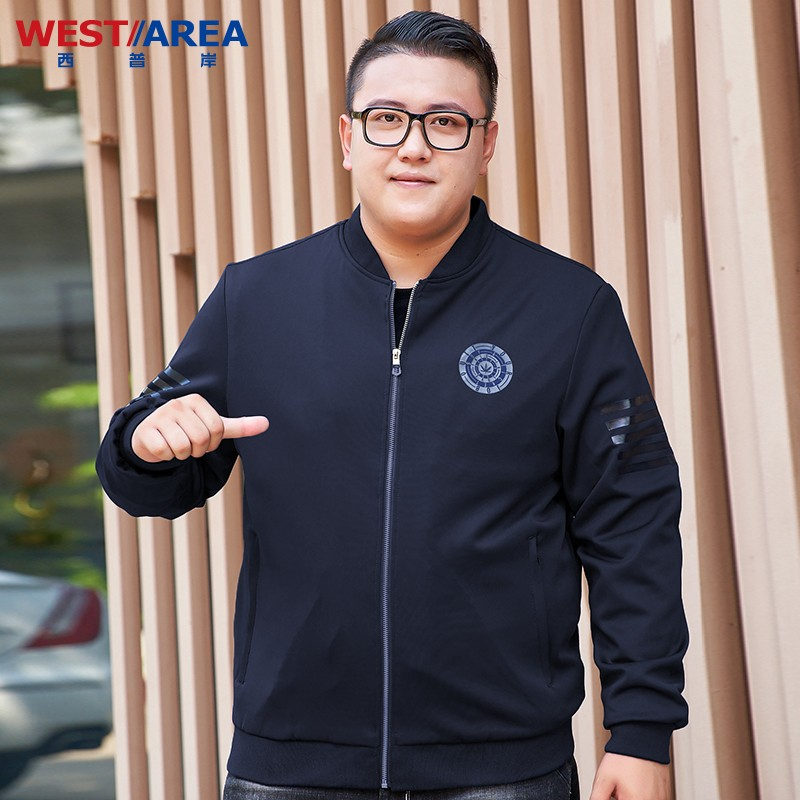 Counter name brand large plus fat plus large jacket mens fat coat fat casual trendy top