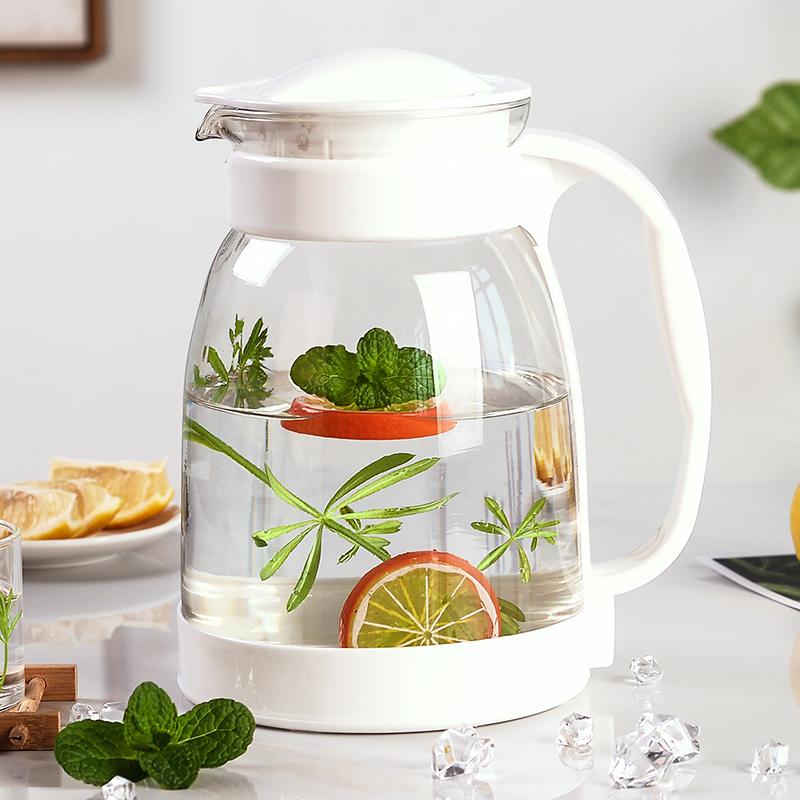 冷水壶大容量玻璃耐高温凉白开水杯茶壶套装家用果汁壶防爆凉水壶