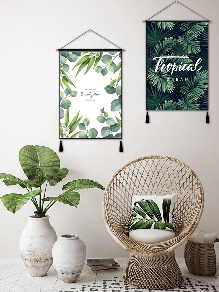 热销0件限时2件3折背景布挂布客厅沙发床头布置宿舍房间墙布背景墙装饰三联挂画。