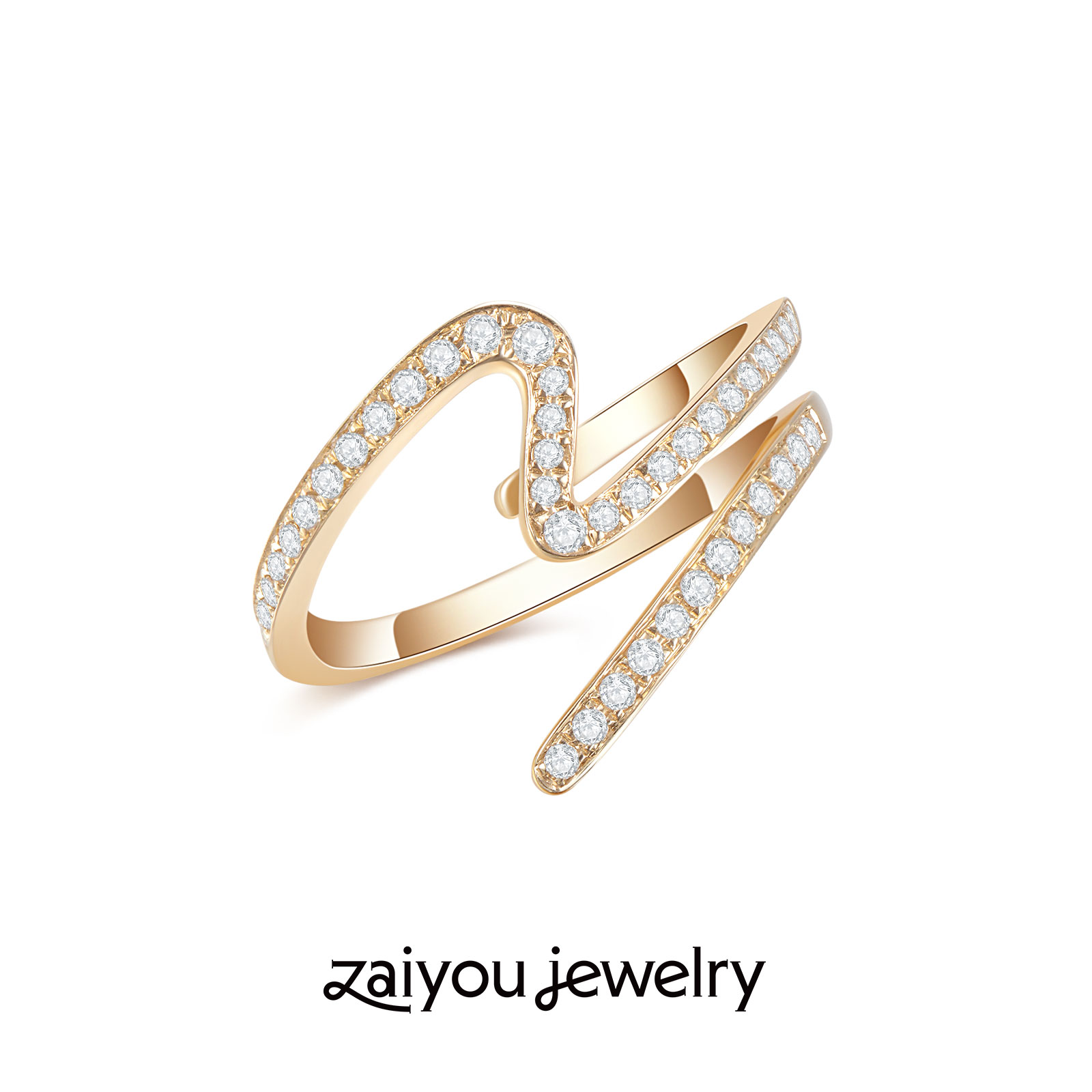 【UP IN THE AIR】其乐在宥创意设计系列戒指k金手饰人造钻石珠宝