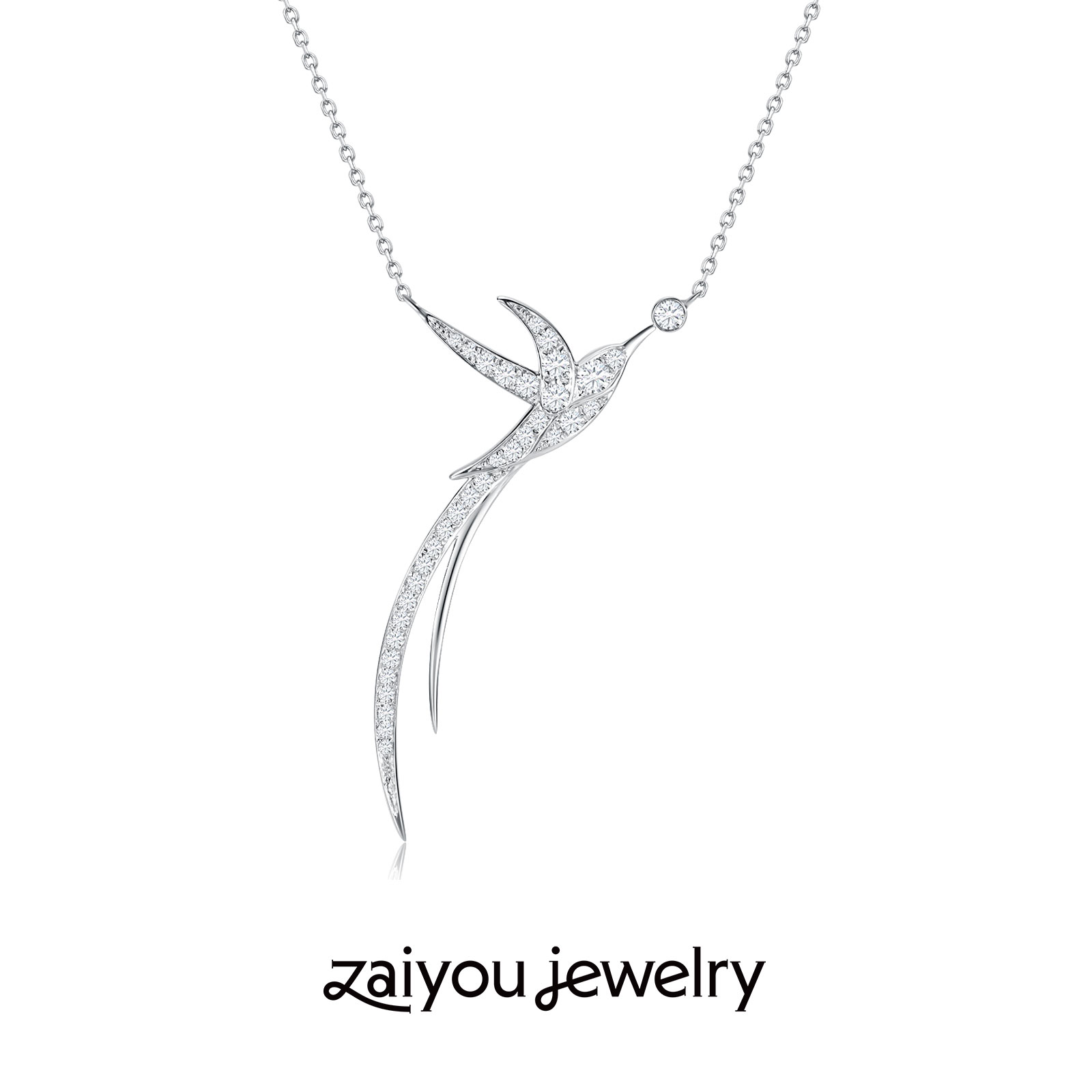 [all things grow] the joy lies in the forgiveness of Designer Series: K-gold art creative artificial diamond jewelry necklace