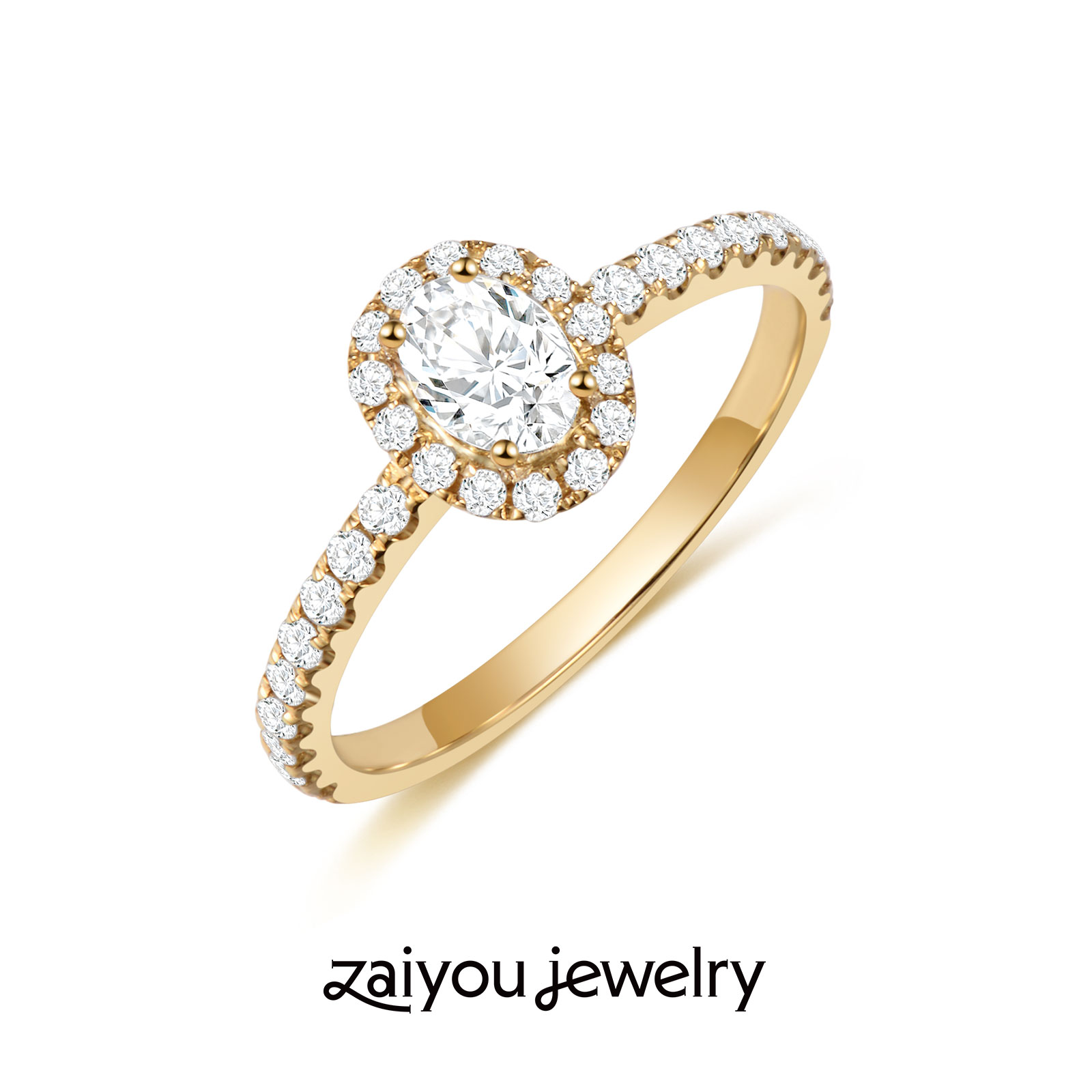 [fireworks] 30 point oval synthetic diamond ring