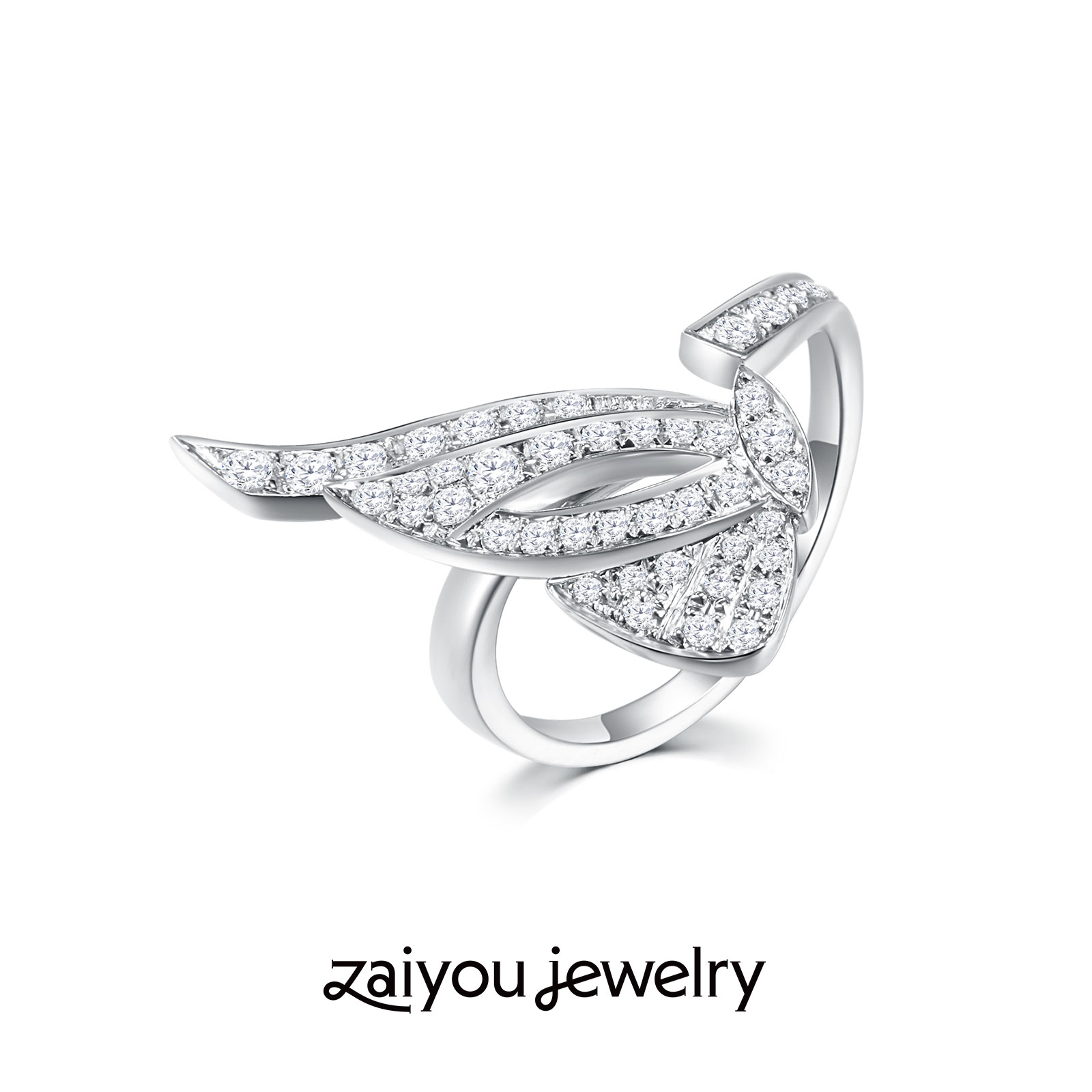 [everything grows] the joy lies in the forgiveness of Designer Series: K-gold art creative artificial diamond jewelry ring