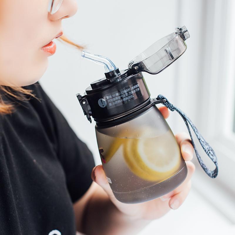 韩国少女迷你可爱大肚塑料杯夏季儿童宝宝吸管杯大人学生便携水杯
