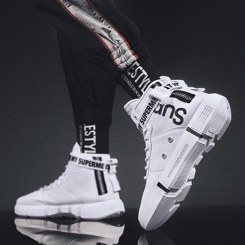 男鞋秋季2019新款空军怒吼一号天尊鸳鸯潮鞋运动鞋子夏高帮板鞋G