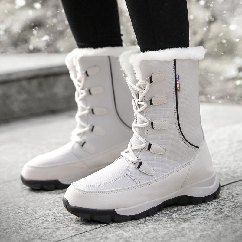 雪地靴女2019新款冬季加绒保暖棉鞋子东北户外防水防滑中筒棉靴子