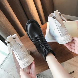 棉鞋 英伦风马丁靴女鞋 冬季 2019新款 加绒靴子秋冬百搭帅气短靴冬鞋