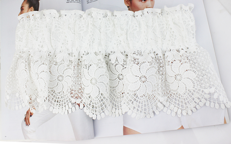 Lace womens belt with wide elastic elastic waist decoration and dress shirt with Black Ruffle waist cover