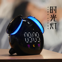床头钟静音夜光电子小闹钟学生用智能充电卡通儿童宿舍专用多功能