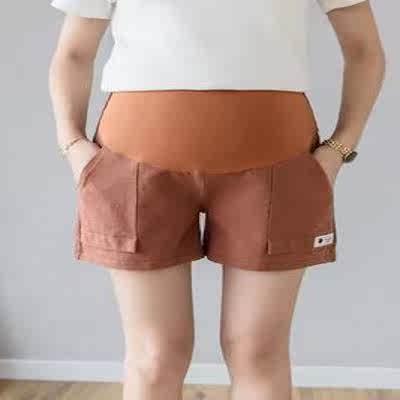 孕妇短裤夏季薄款孕妇裤子打底宽松时尚休闲潮妈a字高腰外穿夏装