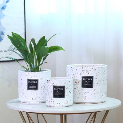 北欧简约陶瓷花盆大号清仓室内客厅家用桌面绿萝发财树白掌花盆