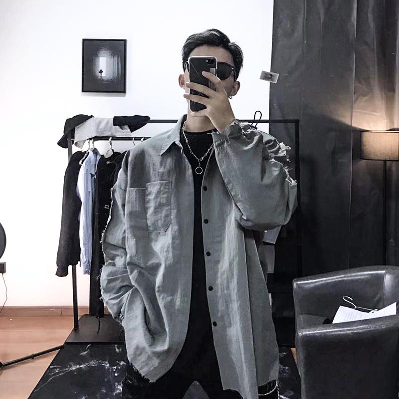 xinyinsu新因素秋季新品毛边衬衫热销53件假一赔十