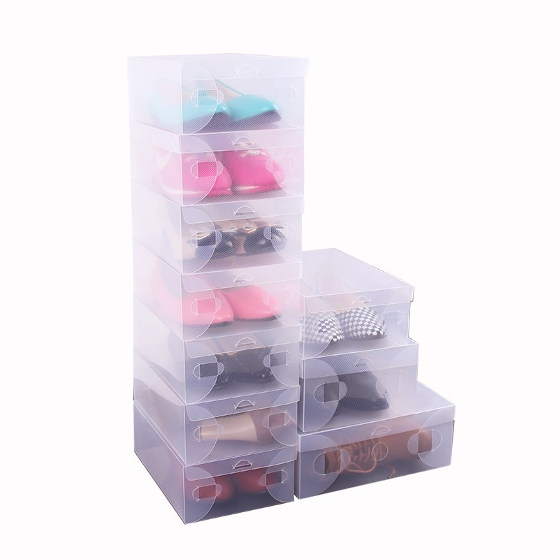 11 thick transparent drawer shoe boxes plastic flip shoe boxes mens and womens shoe boot storage boxes
