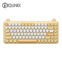 IQUNIX猫咪机械键盘M80无线蓝牙iPad笔记办公青轴可爱女生适配Mac
