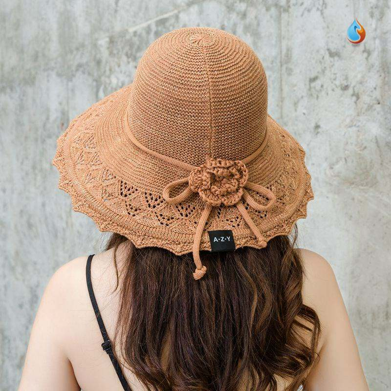 Sun Hat Womens sunscreen face is versatile, still sweet and breathable sun hat atmosphere thin womens hat trend new cool hat