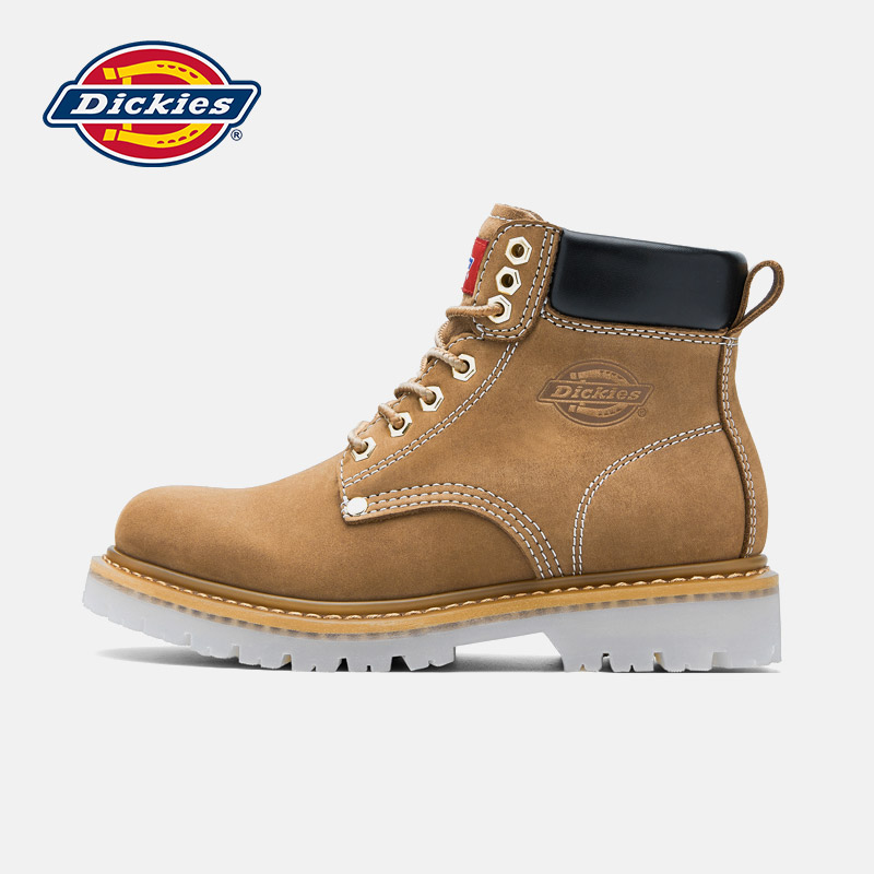 Dickies Martin boots men's shoes autumn leather British style high-top tooling boots rhubarb short boots wild casual