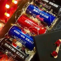 聚会可乐定制女生生日礼物礼盒装字体告白订婚私人特别闺蜜瓶装送