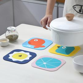 卡通隔热垫餐桌垫防烫锅垫创意家用可爱碗垫子PVC茶杯垫杯垫餐垫