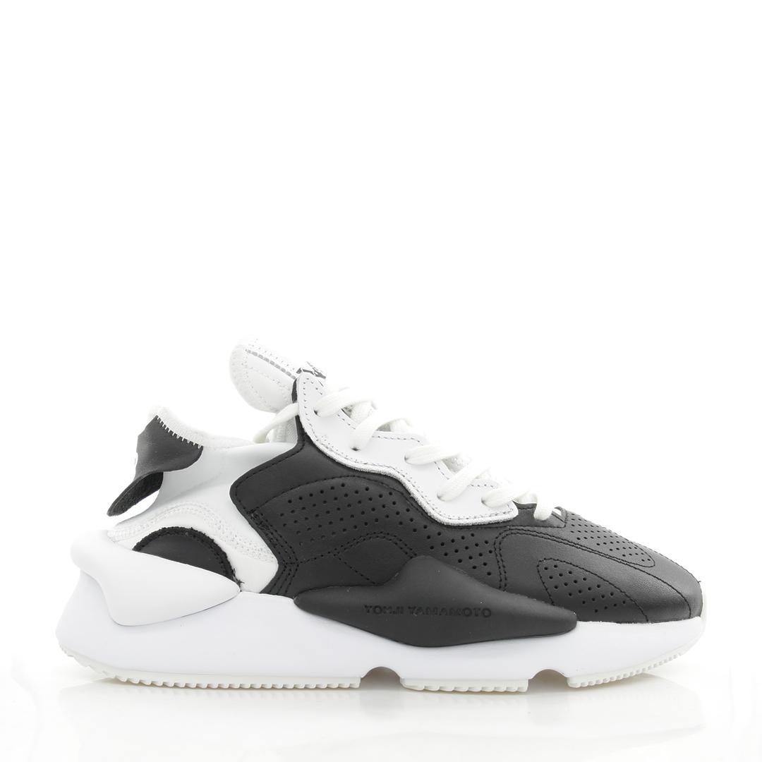 Y-3 Y3 màu phù hợp với giày thủy triều da thể thao samurai da đen đế dày tăng và đế thấp EH1398 - Giày thấp