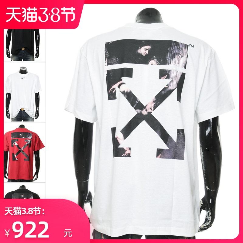 off-white潮牌箭头OVER SIZE宽版 男士短袖T恤 OMAA038S20185004