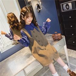 女童套装2020秋装新款洋气中大童儿童时尚韩版春秋款马甲两件套潮
