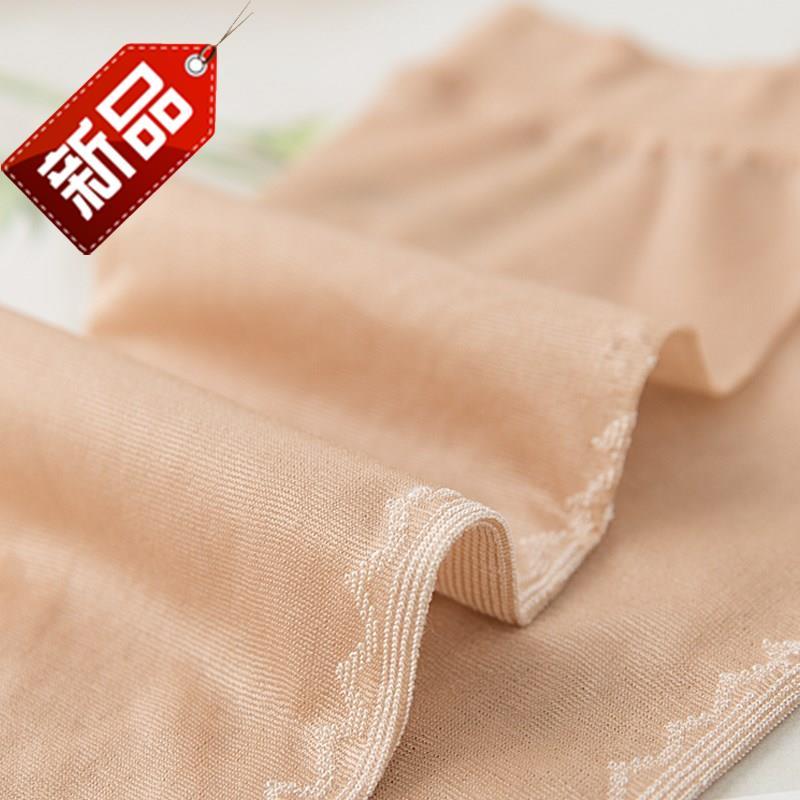 丝袜短袜不透黑丝袜天咖啡色新款u加大码有底水晶丝蕾丝边肉丝