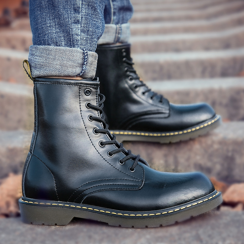 2021 new Martin boots mens fashion spring and autumn Boots Mens summer high top work shoes mens middle top mens Boots
