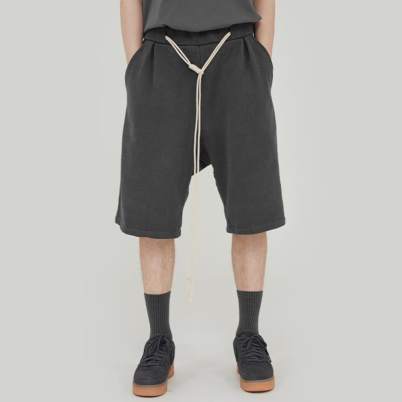 热销35件包邮好饭nicerice2019夏季新款重磅针织伞兵绳五分街头宽松运动短裤男
