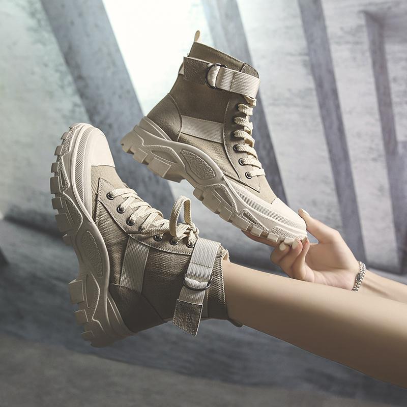 帅气马丁靴女英伦风2019新款短靴子春秋单靴透气机车沙漠夏季女士