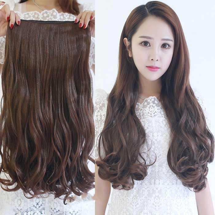 Wigs, virgin hair, long straight hair, horsetail, 100% virgin hair, straight hair, one piece invisible, seamless hair