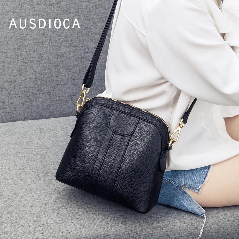 澳迪佳包包女2021新款潮时尚韩版真皮单肩斜挎包女小包迷你贝壳包