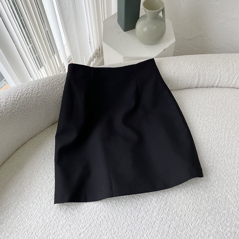 Lin Xiaoyas exclusive brand order 70 cotton texture black and white skirt