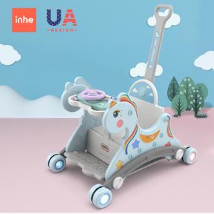 儿童摇马餐椅婴儿小木马摇椅一周岁宝宝生日礼物滑行多功能摇摇马品牌