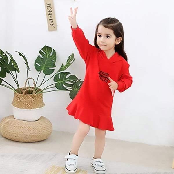 新款女童春装中小童裙子连衣裙2019儿童纯棉女宝宝公主裙连帽中裙