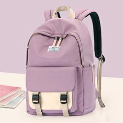 高中学生书包女初中生小学生大容量韩版大学生简约日系可爱双肩包