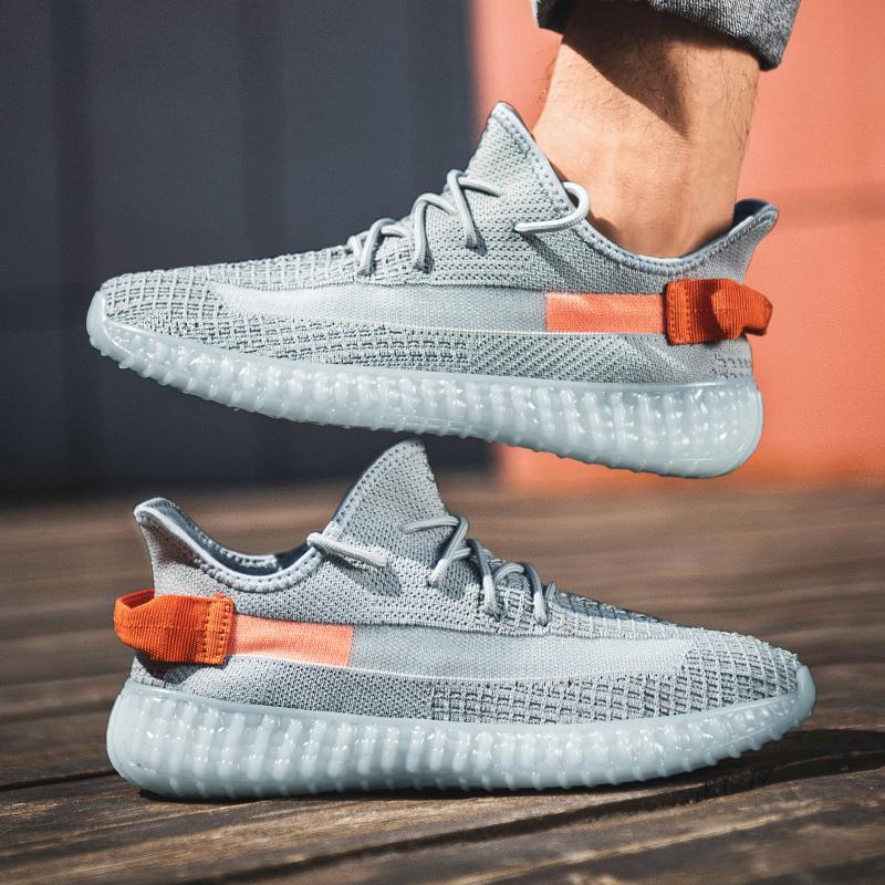 鞋子男潮鞋2021夏季新款飞织网面透气运动鞋青少年休闲百搭椰子鞋