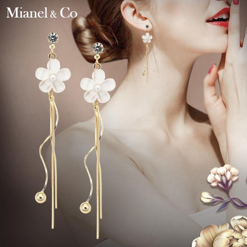 韩国长款流苏超仙S925银针耳钉女士国潮气质花朵耳环个性耳坠饰品图片