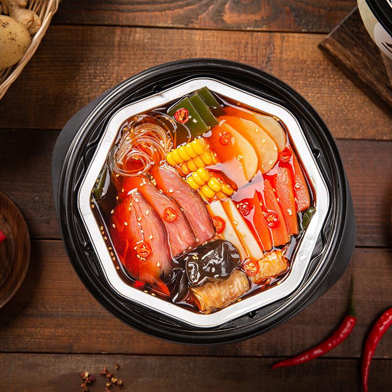 龙仔懒人火锅自加热麻辣牛肉网红荤菜版便携免煮速食麻辣小火锅