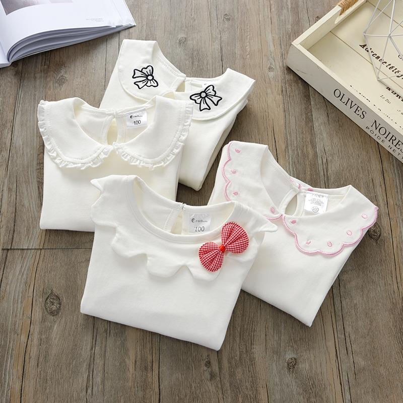 秋衣纯棉女童长袖t恤0-1岁打底衫