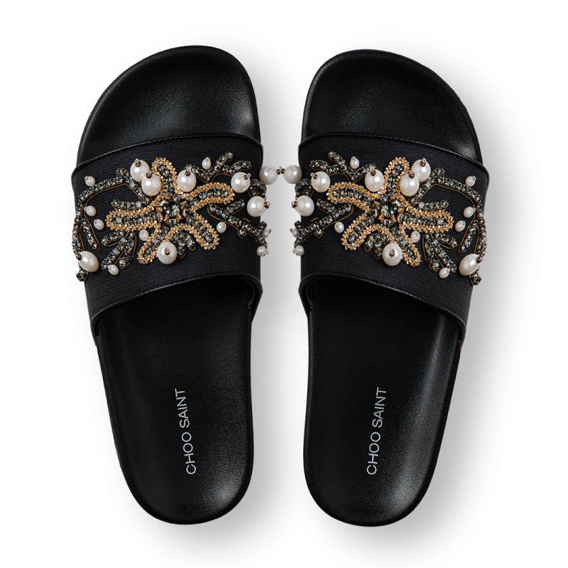 Choosant diamond starfish summer flat bottomed casual one and a half sandals lightweight slippers for women to wear in summer