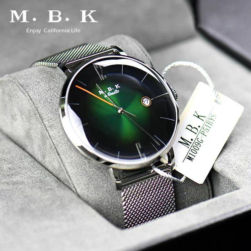 欧美进口MBK手表男全自动机械表防水小众轻奢简约男表3D面镂空
